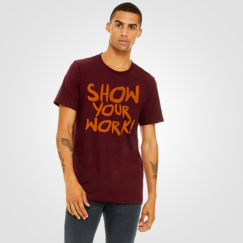 dpoe Maroon T-Shirt Front View