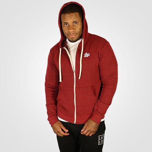 dpoe Cardinal Fleece Full-Zip Hoodie Front View