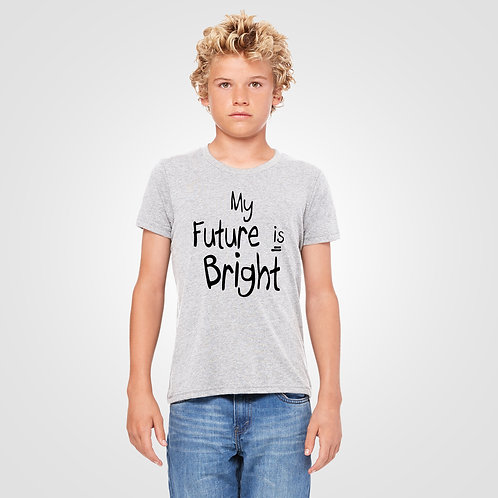 dpoe Heather Youth Boy T-Shirt Front View
