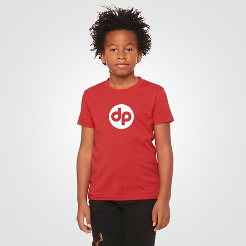 dpoe Red Youth Boys T-Shirt Front View