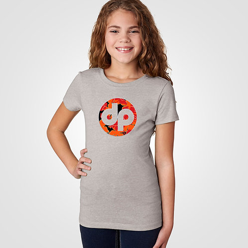 dpoe Heather Youth Girl T-Shirt Front View