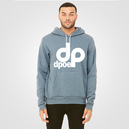 dpoe Heather Slate Pullover Hoodie Front View