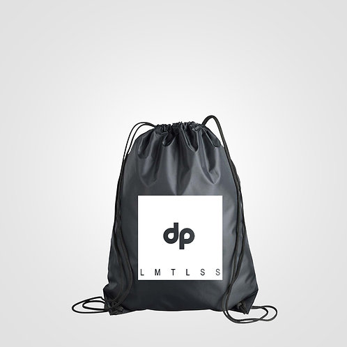 dpoe Black Drawstring Bag Front View