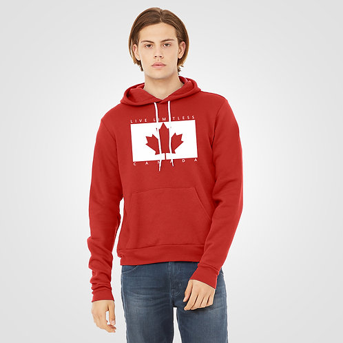 dpoe Red Pullover Hoodie Front View