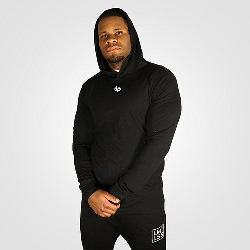 dpoe Black Lightweight Hoodie Front View