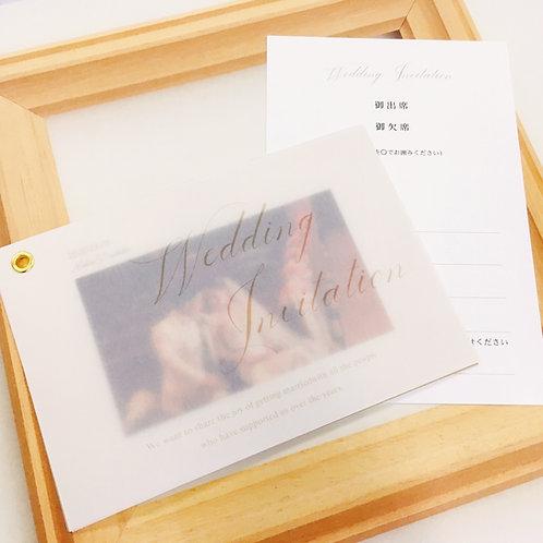 ジゼル 招待状【印刷込】