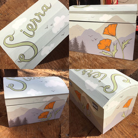 Painted baby name box