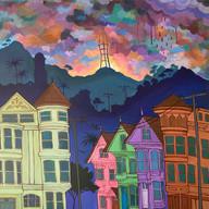 Purple Rain Over SF