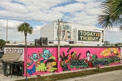 Few & Far wall, Art Basel, Miami 201