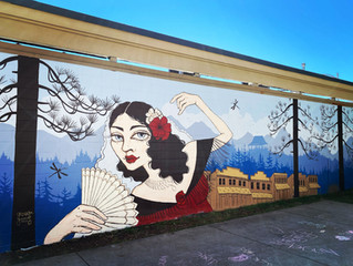 LOLA MONTEZ MURAL IN GRASS VALLEY