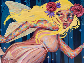 NEW PAINTING FOR FAIRY ART SHOW