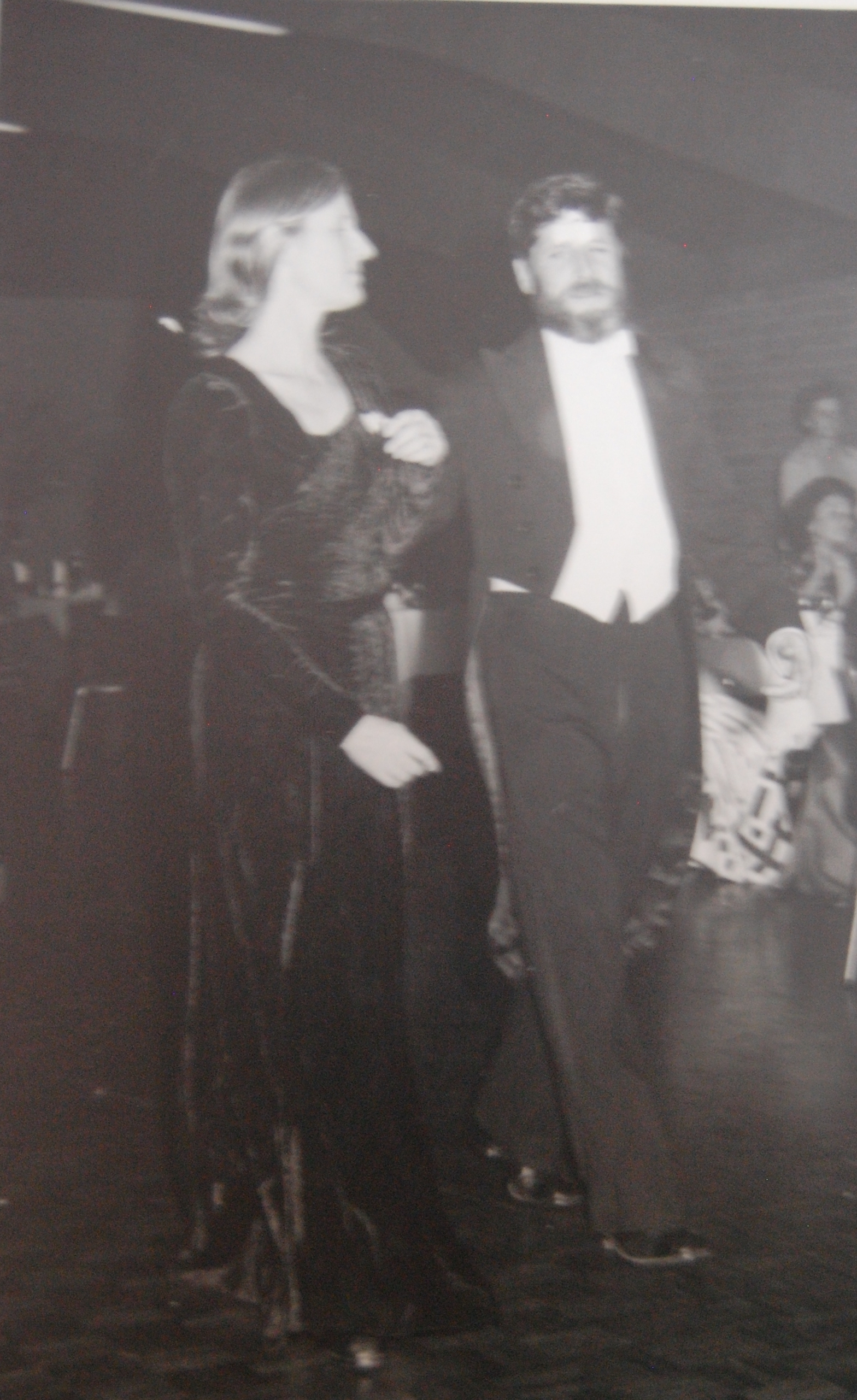 David and Prue Stitt at Forbes Show Ball. David was an entrant in the Beard Growing Championship.