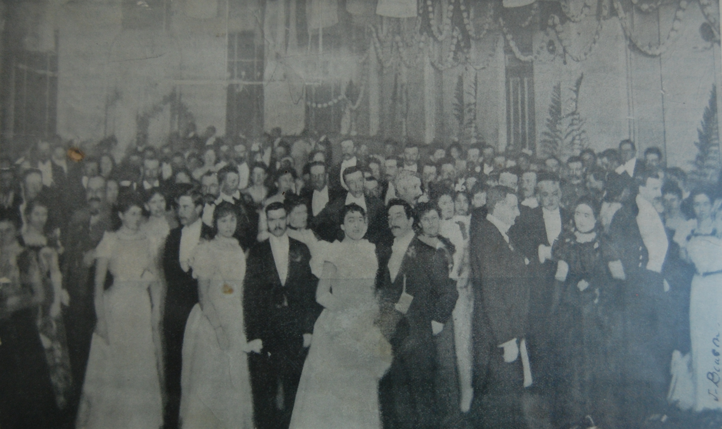 The Show Ball at Forbes, held in the Town Hall, photo appeared in _The Sydney Mail_ Newspaper, Satur