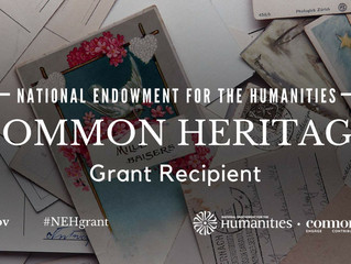 PVM wins NEH Common Heritage Grant!