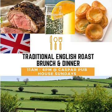 Traditional english roast brunch & dinne