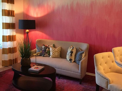 Pink Ombre Mural