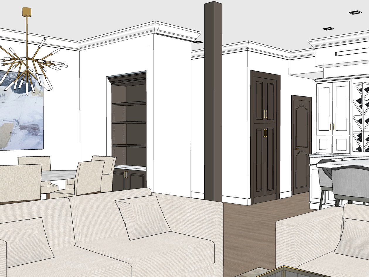 Dining Room Design Rendering