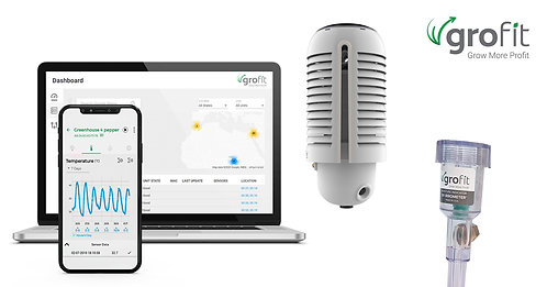 Grofit+: Climate & soil monitoring system