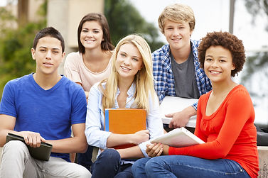 Group of diverse adolescent students
