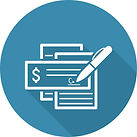 Icon with check being written