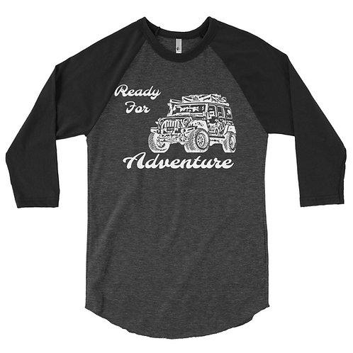 Men's Ready For Adventure 3/4 sleeve raglan shirt