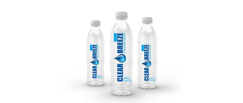 12 Pack Clear Breeze Alkaline Bottled Water
