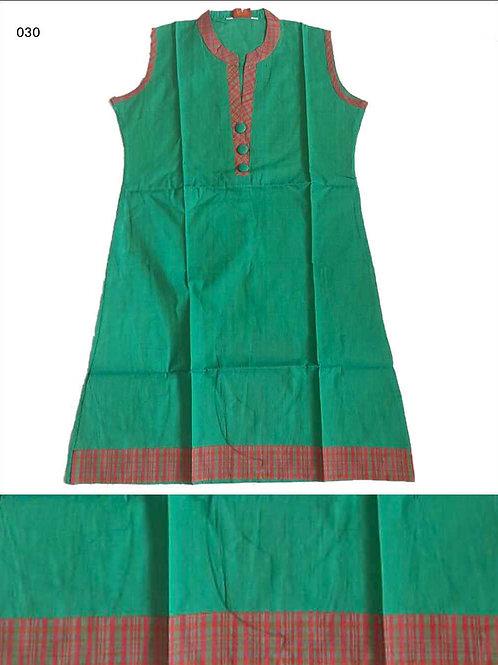 030 Green Cotton Kurtis Designer Cotton Kurtis