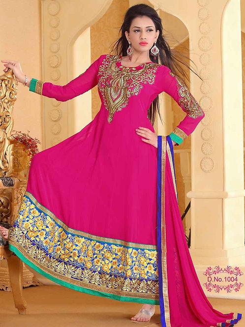 1004 Designer Magenta Georgette Anarkali Suit