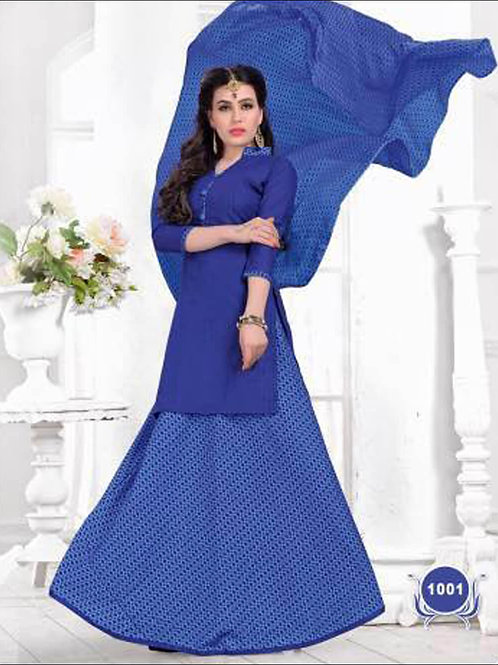 1001Blue Casual Wear Designer Suit