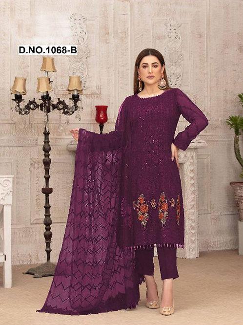 1068B Pakistani Style Designer Suit