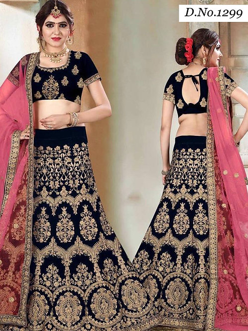 1299 Designer Bridal Wear Lehenga Choli With Dupatta