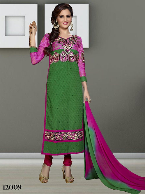 12009 Green Designer Straight Suit
