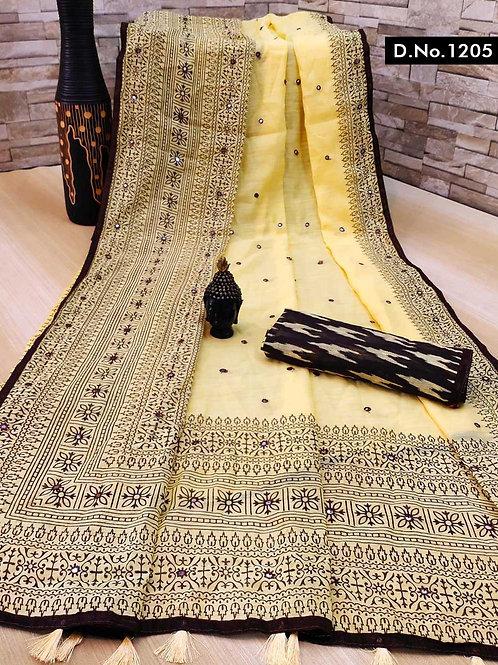 1205 Aaradhya Linen Sarees