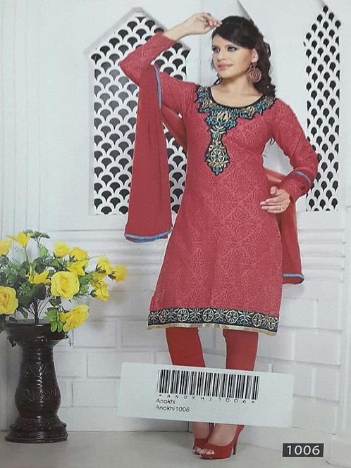 1006 Magenta Designer Printed Salwar Suit
