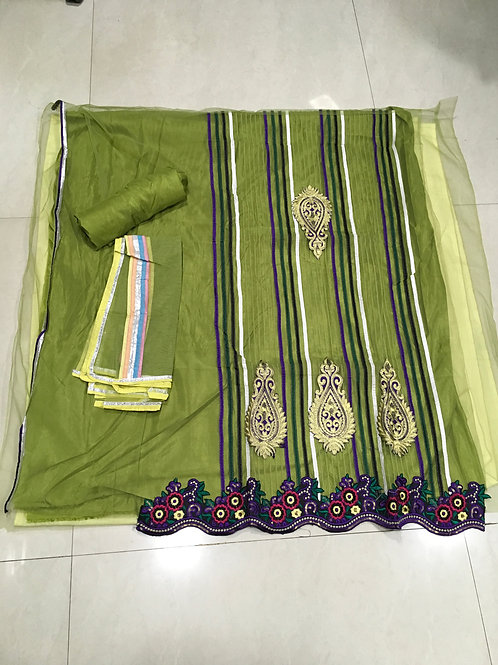 1543 Green Straight Suit