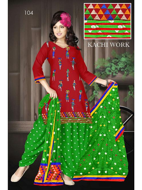 104DarkRed Designer Exclusive Fancy Daily Wear Cotton Salwar Suit