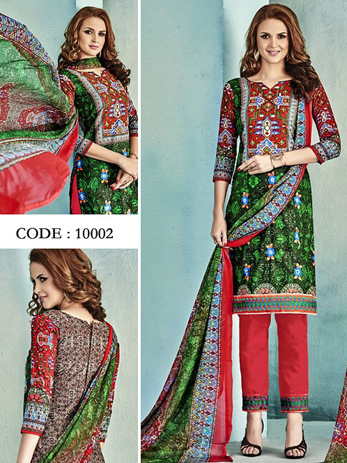 10002Green and Red Latest Fancy Salwar Suit