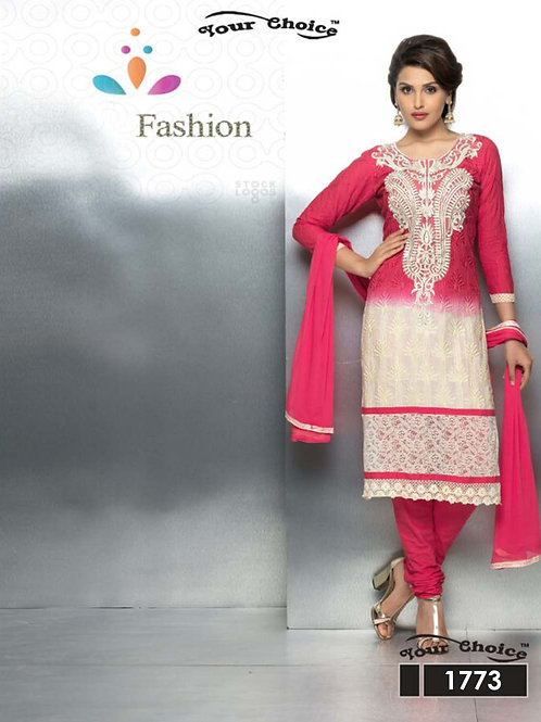 1773 Dark Magenta and Ivory Party Wear Nazneen Straight Suit