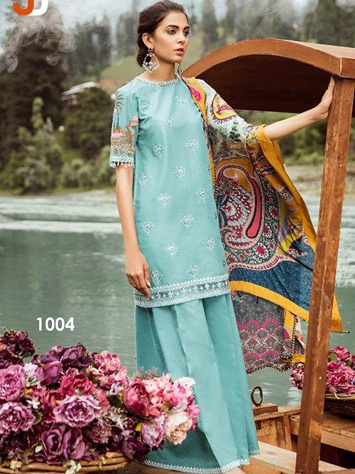 1004 Designer Cotton Satin Pakistani Style Indian Suit