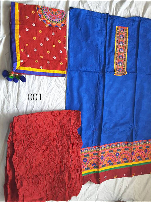 001 Blue Designer Embroidered Salwar Suit