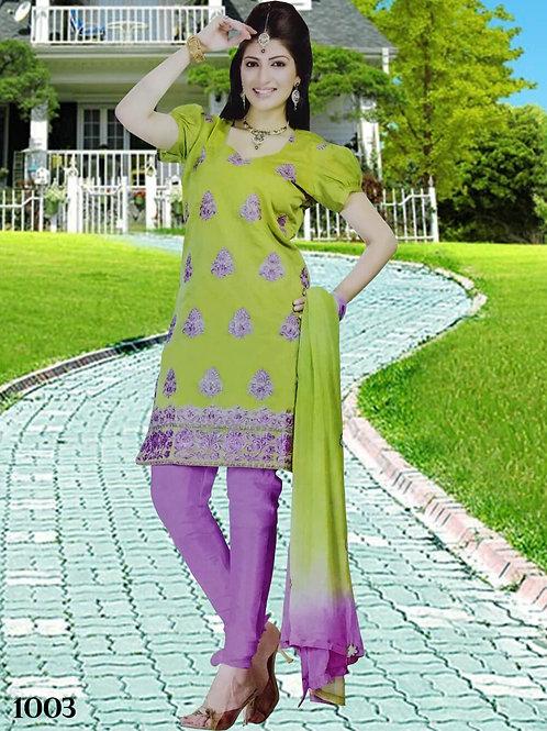 1003 Parrot Green Designer Salwar Suit