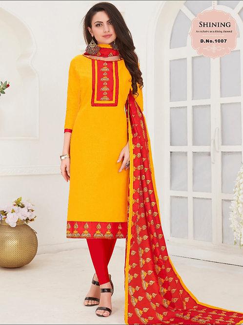 1007 Yellow Designer Salwar Suit