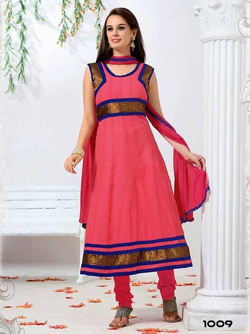 1009 Deep Pink Designer Anarkali Suit