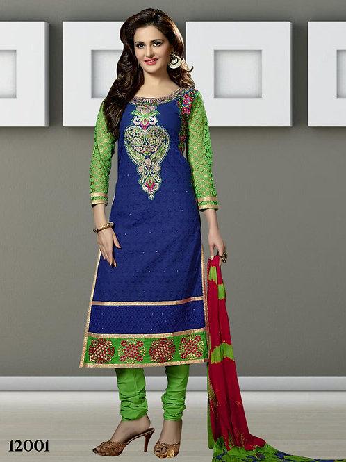 12001 Blue Designer Straight Suit