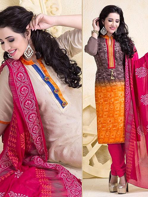 18000 Designer Ivory and Orange Salwar Suit