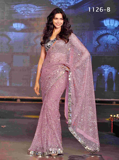 1126B Party wear Georgette Sequence Saree