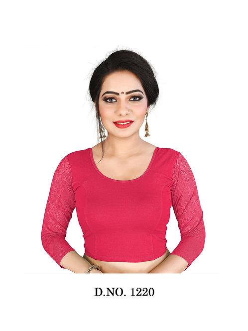1220 Feminine Ethnic Cotton Lycra Hosiery Blouse Collection