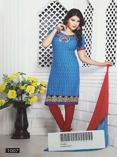 1007 Blue Designer Printed Salwar Suit