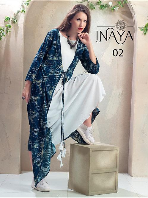 02 Blue and White Designer Kurti
