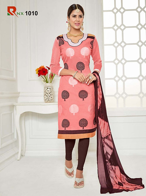 1010 Coral Pink Exclusive Fancy Designer Straight Suit